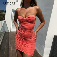 Backless Strapless Dress Pleated