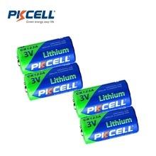 4 X PKCELL 2/3A батарея CR123A CR123 CR 123 CR17335 123A CR17345(CR17335) 16340 3V литиевые батареи для Carmera