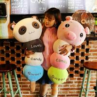 Creative Plush Toy Lovely Candy Sweet Bear Rabbit Panda Elephant Monkey Pig Doll Stuffed Animal For Kids Children Birthday Gift