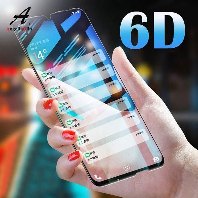 6D vidrio templado para huawei P30 p smart 2019 Nova 4 Y7 Pro 2019 para honor 20 9 H protector de pantalla película completa