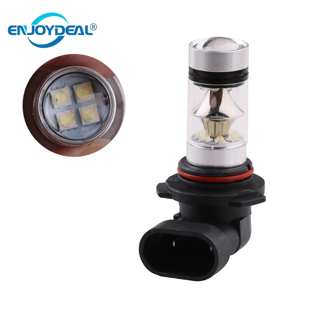 2PCS 2828 SMD 100W LED C ar D RL Fog Light Headlight Lamp Bulb C ar Styling Auto Headlamp H 1 H <font><b>3</b></font> H 4 H <font><b>7</b></font> H 8/H 11 9005 9006 image