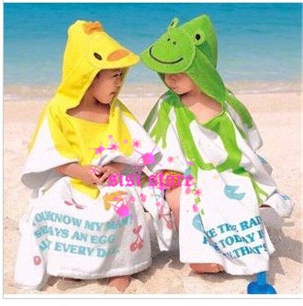 2013 New Arrival!! Childrens Cartoon Baby Bathrobe Hooded Towel Cotton Kids Hooded Baby Bathrobe/Baby Bath Towel LQ220