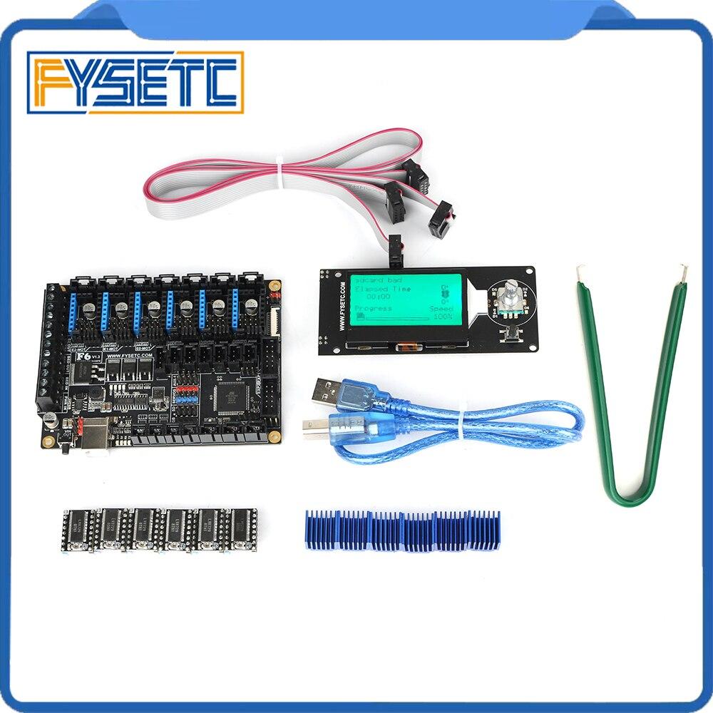 FYSETC F6 V1.3 Controlller Board + 6pcs LV8729 Stepper Motor Driver + MINI12864 LCD Display Screen mini 12864 Smart Display FYSETC F6 V1.3 Controlller Board + 6pcs LV8729 Stepper Motor Driver + MINI12864 LCD Display Screen mini 12864 Smart Display