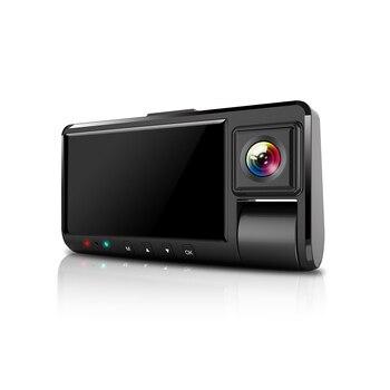 Cámara de visión nocturna infrarroja DVR gran angular para coche 160 ° 4K WiFi grabadora de conducción Dual Full HD 1080P Sensor interior frontal