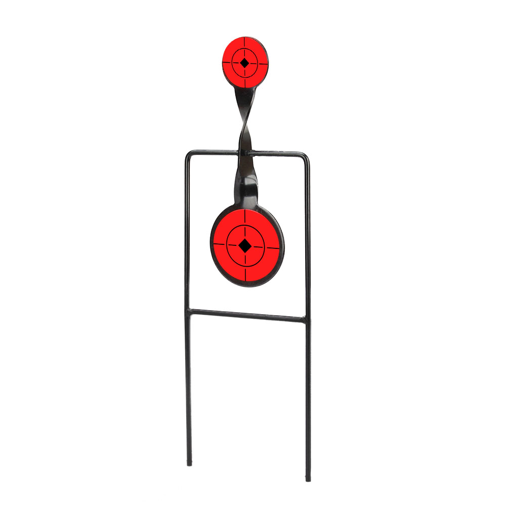 Tactical Bull's-Eye Target Airgun Paintball Double Magnum .44 Action Spinner Shooting Target Hunting Shooting Hunting Accessory