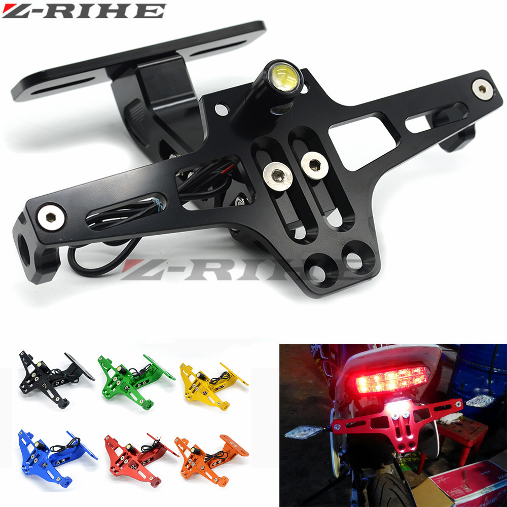 Us 14 1 17 Off Universal Cnc Motorcycle Adjustable License Number Plate Frame Holder Bracket Mount For Bmw S1000rr S1000r R1200rt R1200gs In Covers