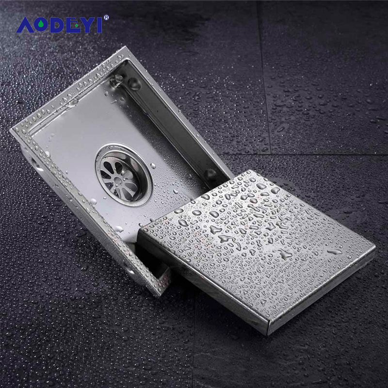 AODEYI Floor Drain Tile Insert Square Floor Waste Grates Bathroom Shower Drain 110 x 110MM And 150x 150MM 304 Stainless Steel free shipping hidden type triangle tile insert floor waste grates shower drain 232mm 117mm 304 stainless steel floor drain