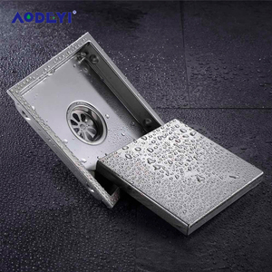 AODEYI Floor Drain Tile Insert Square Floor Waste Grates Bathroom Shower Drain 110 x 110MM And 150x 150MM 304 Stainless Steel(China)