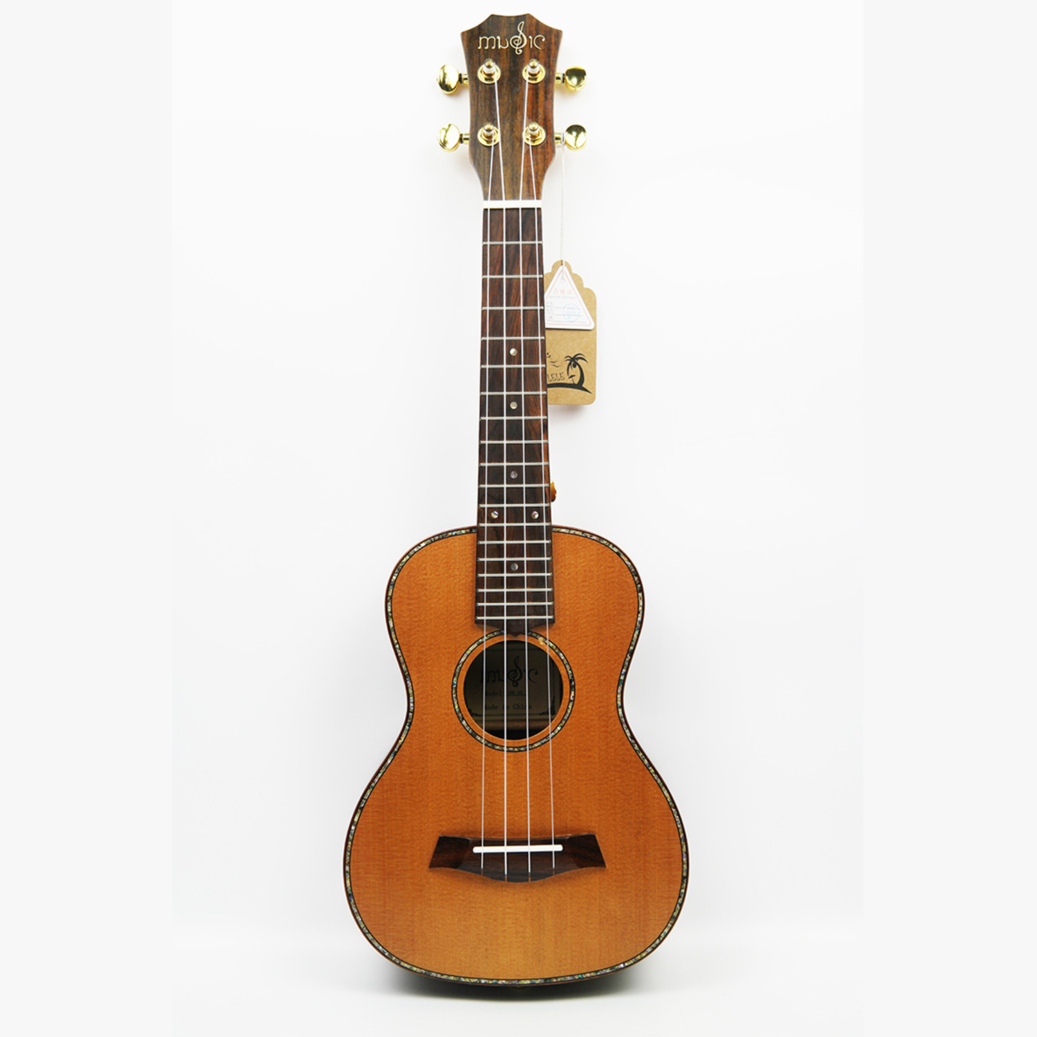 "23"" Concert Rosewood Red Pine Solid Wood 4 Strings UKULELE Fretboard Hawaiian mini small guita travel acoustic Uke Concert"
