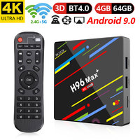 Android 9.0 Smart TV BOX Rockchip RK3328 4G 64G TV receiver 4K Wifi Media player Play Store Free Apps Fast Set top Box pk HK1