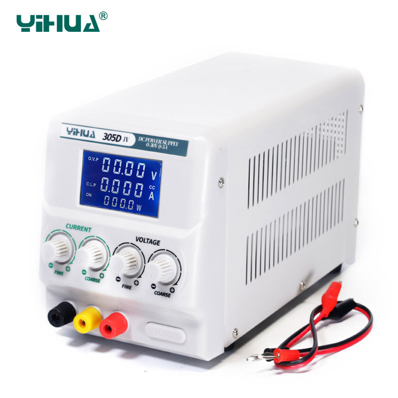 YIHUA 305D-IV <font><b>DC</b></font> <font><b>Power</b></font> <font><b>Supply</b></font> Adjustable High Precision 4 Digit Display <font><b>30V</b></font> <font><b>5A</b></font> Mini Laboratory <font><b>Power</b></font> <font><b>Supply</b></font> Voltage Regulators image
