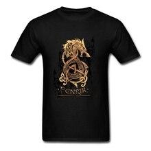 Викинги Берсерк Футболка Мода эластичный хлопок 3XL короткий рукав Монстр волк скандинавских мифологии футболки