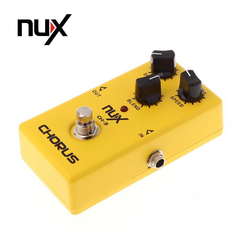 Original Product NUX CH-3 Electric Guitar Effect Pedal Chorus Low Noise BBD True Bypass Guitarra Effect Pedal guitar accessories aroma atp 3 tube pusher valve combo simulator electric guitar effect pedal true bypass guitarra part