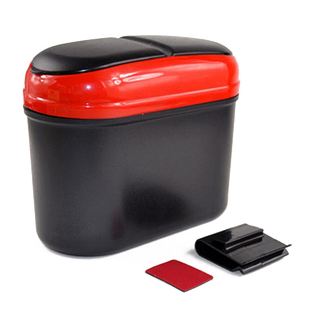 Stylish Dual Side Lid Car Vehicle Plastic Trash Can Garbage Bin Storage  Box