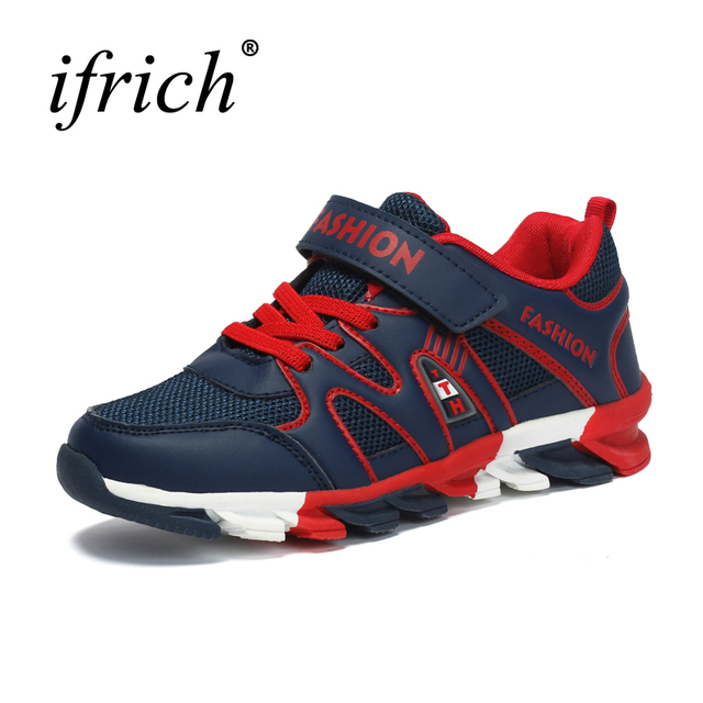 2019 New Cool Kids Boys Shoes Girls Lace Up Teenager Trainers Sport Blue  Famous Brand Sneakers Wearable Walking Shoes Children 3ad3a168a