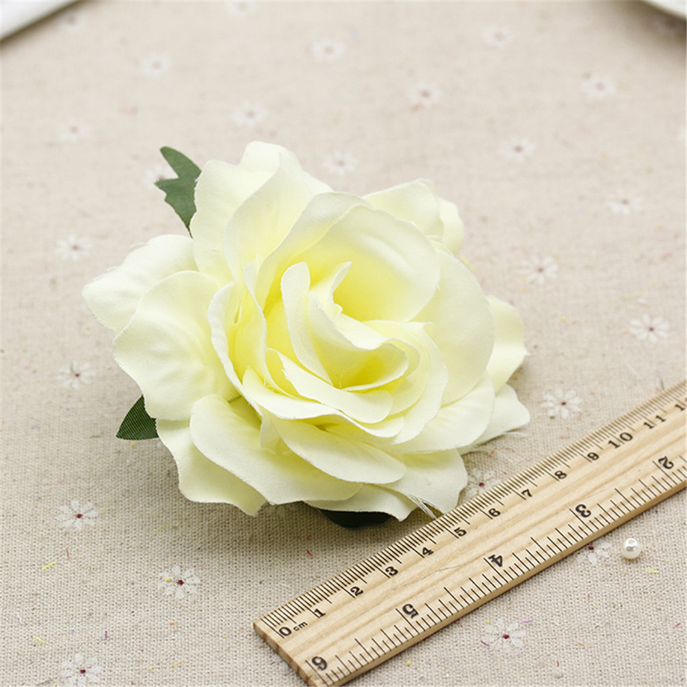 Buy 2pcs 10cm Silk Blooming Roses Artificial Flower Head For Wedding