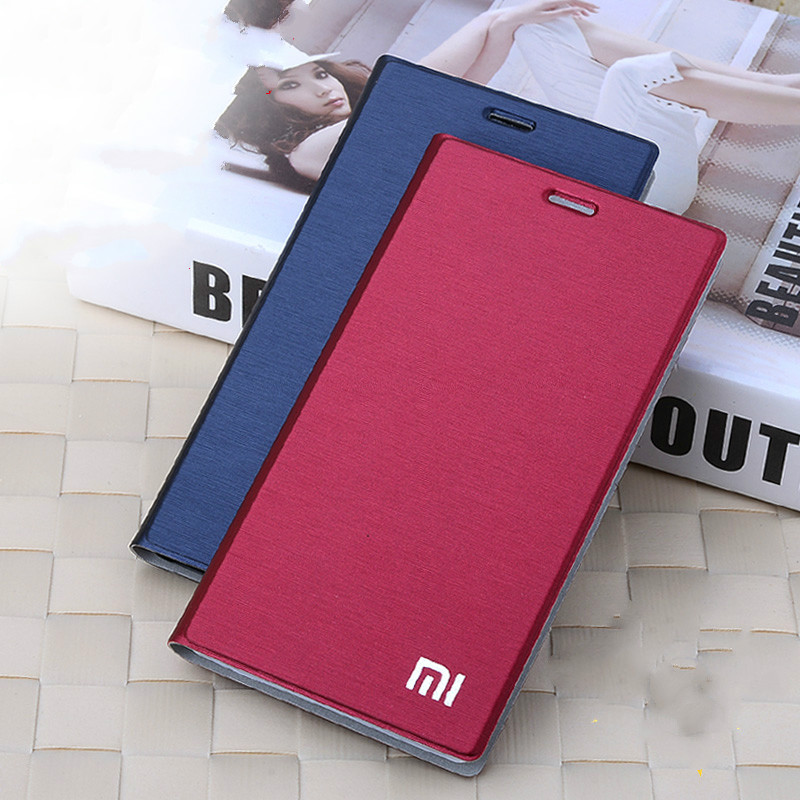 Cover-Bag Card-Holder Stand Leather Case Slim-Style M4 Luxury Xiaomi For Flip Function