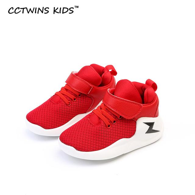 CCTWINS CRIANÇAS 2017 primavera criança menino trainer esporte crianças moda menina malha bebê sapato marca de alta top kid planas casuais sneaker