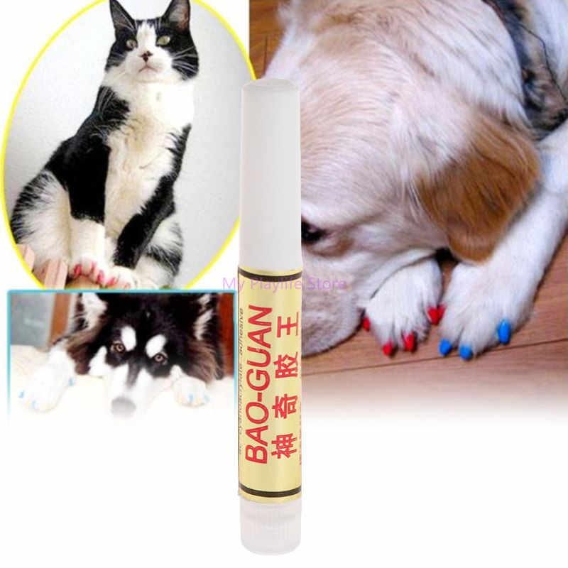 1pc/5pcs Pet Cat Nail Cap Glue Nails Cover Protector Dog Cats Puppy Claw Paws Adhesive Soft Applicator Grooming Accessories C42
