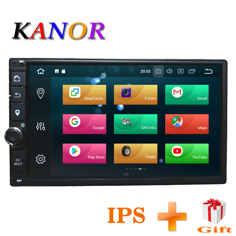 KANOR Octa Core RAM 4g ROM 32g 2 Din Android 8.0 Autoradio GPS Navigation Pour Hyundai Elantra sonata Tucson Santa Fe Lavita Getz