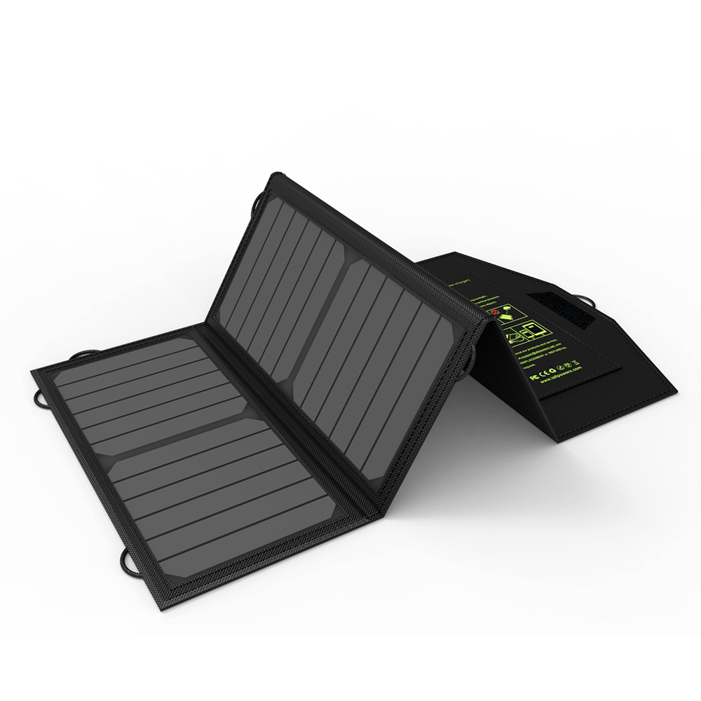 ALLPOWERS Solar Battery Portable 5V 21W Dual USB Charging Solar Panel Charger for Mobile Phone iPhone Samsung Sony HTC LG ect.
