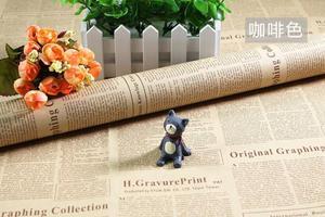 Image 4 - Selens 52*75 Cm Vintage Engels Krant Koeienhuid Inpakpapier Achtergrond Papier Behang Pakket Papier Inpakpapier