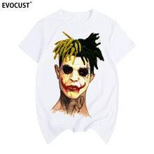 Xxxtentacion coringa música Hip Hop Dos Ganhos Raper impressão Verão T-shirt de Algodão camisa Dos Homens T Novo TEE moda