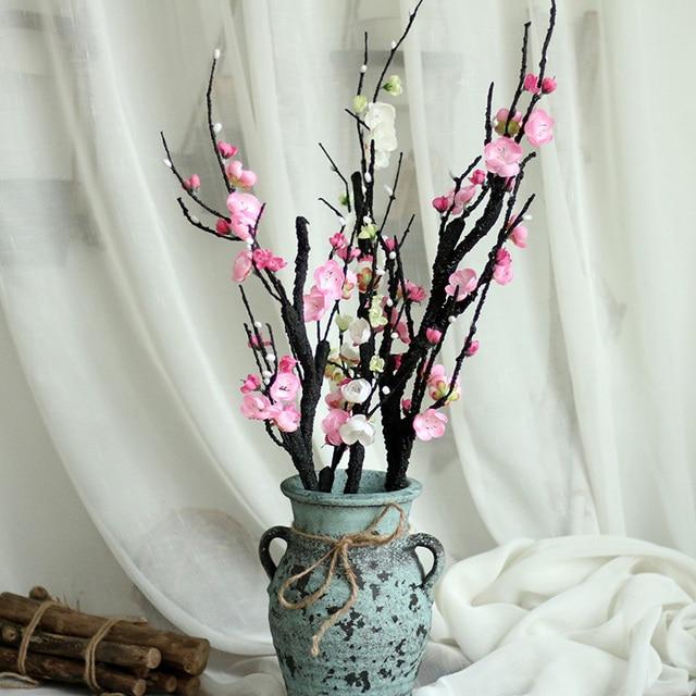 Artificielle fleurs Prune fleur Artificielle plantes branche d\u0027arbre Soie fleurs  pour la maison décoration