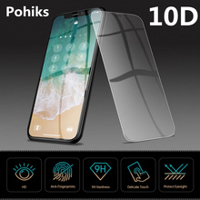 Pohiks 9H Hardness Protect Film For iphone X XS XR Max 10D Full Cover Tempered Glass For iphone 7 6 6S plus 8 Screen Protector цены