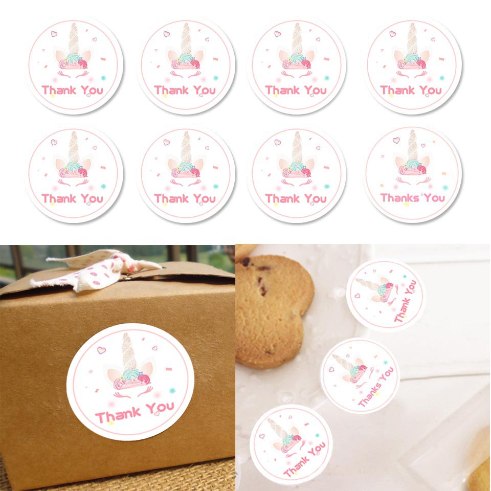 60pcs/lot Unicorn Party Candy Bag Sticker Birthday Decorations Kids Thank you Pink Unicorn Gift Box Seal Stickers Packaging60pcs/lot Unicorn Party Candy Bag Sticker Birthday Decorations Kids Thank you Pink Unicorn Gift Box Seal Stickers Packaging