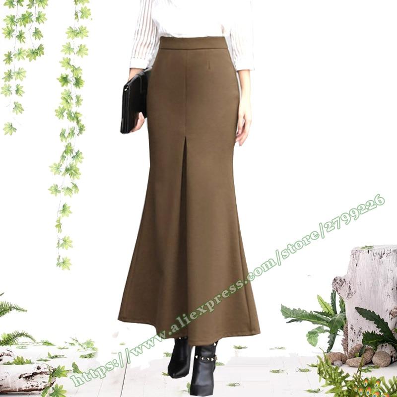 2018 automne mode sirène poisson queue mince bureau coréen noir Maxi dames jupe/femelle plis longues jupes femmes