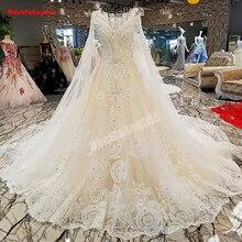 00305 Watteau Train Top Beaded Wedding Dress Bride Dress