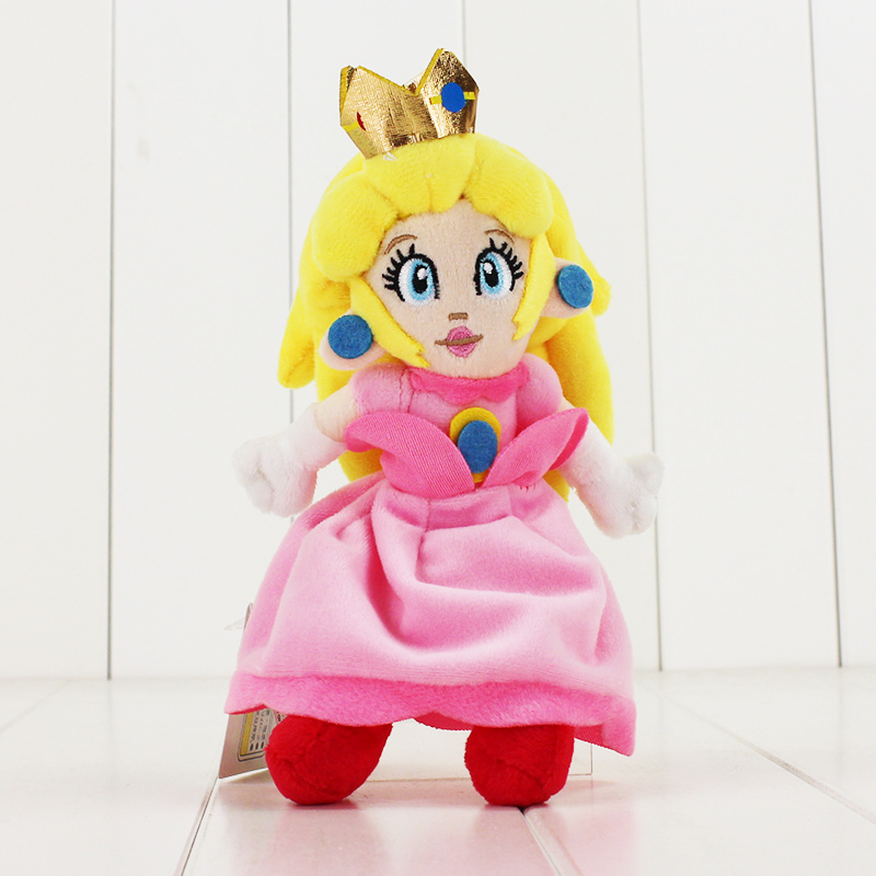 22CM Super Mario Pink Peach Princess Plush toys cute doll for children free shipping soft stuffed doll стоимость
