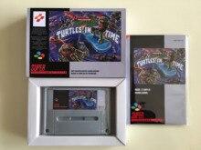 16Bit Giochi ** Teenage Mutant Hero Turtles 4 Turtles in Tempo (in Francese Pal Versione!! Box + Manuale + Cartuccia!!)