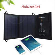 5V 11W Monocrystalline Solar Panel Solar Battery Charger for iOS Android Phone Tablet MP3 Player Dual USB Ports Solar Cell(China)