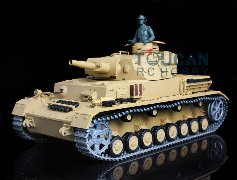 2.4Ghz HengLong 1/16 German IV F RTR RC Tank Model Upgraded Metal Ver 3858 W/Sound