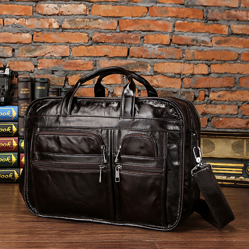HTB16L4biYSYBuNjSspfq6AZCpXaJ WESTAL men's genuine leather bag for men's briefcase office bags for men leather laptop bag document business briefcase handbag