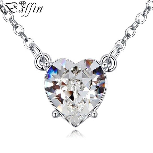 d6a75c6d0a0a € 7.66 20% de DESCUENTO|100% cristales originales de Swarovski corazón  COLLAR COLGANTE para las Mujeres Partido joyería Infinity cadena regalo del  ...