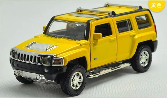 Us 1838 8 Off132 Scale Alloy Diecast Car Model For Hummer H3 Collection Model Pull Back Toys Off Road Vehicle Car With Soundlight In Diecasts