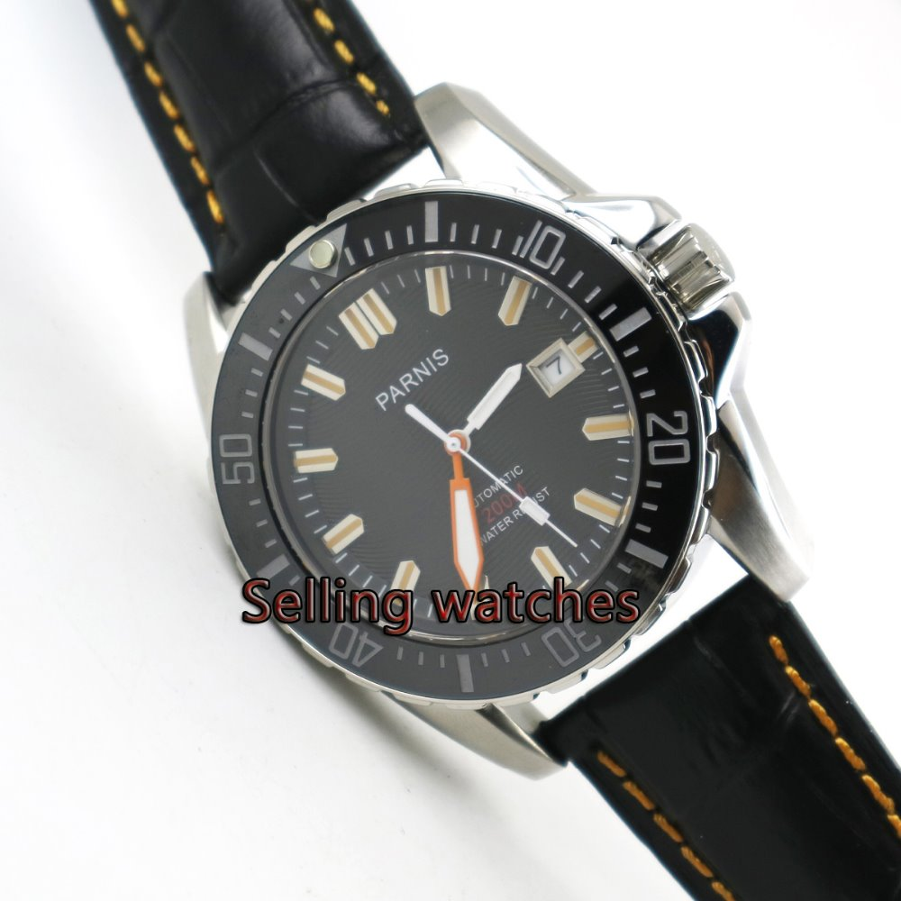 PARNIS 43mm Japanese Automatic Self-Wind movement men's watch sapphire glass Mechanical watches Men's