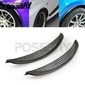 1 par de fibra de carbono estilo fender flare roda lábio corpo Kit Universal Para Carro Caminhão Carro Lamas Mud Guarda Auto acessórios