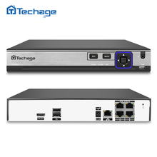 Techage 48V H.265 4CH 5.0MP/ 4.0MP 4K POE NVR CCTV System Kit P2P Network Video Recorder for IP Security Surveillance Camera