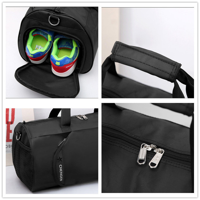 2018 New Waterproof Gym Bag Fitness Training Sports Bag Portable Shoulder Travel Bag Independent Shoes Storage sac de sport