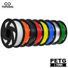 Filamento de impresión 3D PETG, Material de filamento 3D PETG de 1,75mm, 1KG, alta resistencia