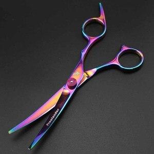 Image 5 - 6 дюймов профессиональные ножницы для стрижки волос, ножницы для стрижки, филировочные изогнутые ножницы, набор инструментов для парикмахерской