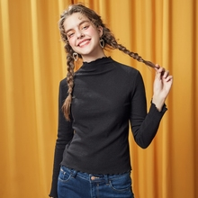 METERSBONWE Girls Long Sleeve T-Shirt For Female Women New S