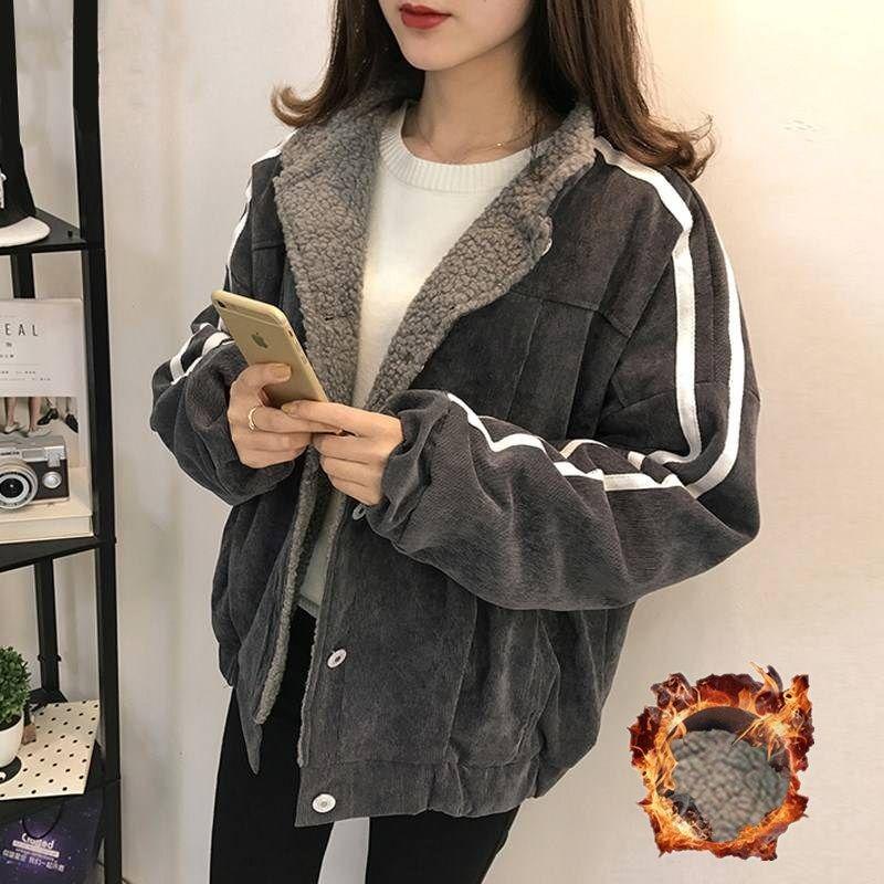 Женская куртка Vangull, осенняя, хлопковая, с длинным рукавом, в полоску