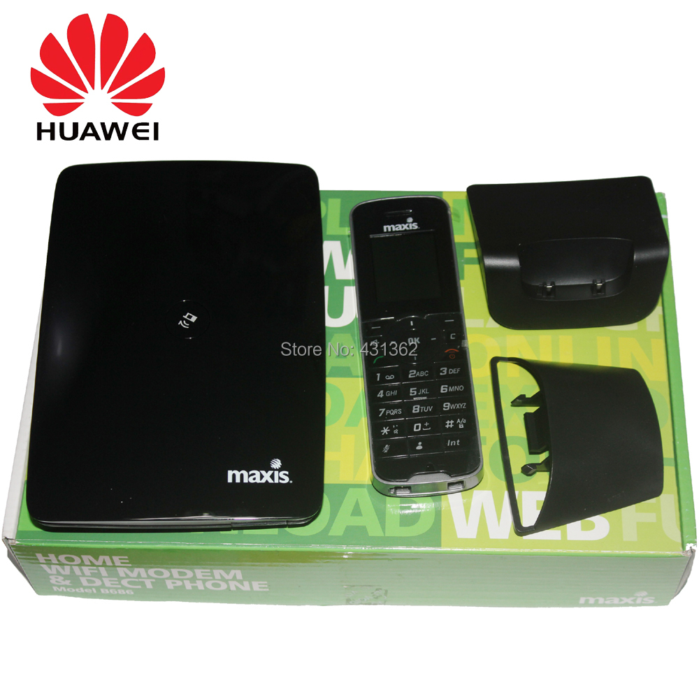 Huawei B686 21.6Mbps 3G CPE Router Home WiFi Modem Support DECT Digital Voice huawei b686 3g wi fi router with uk 3 pin power supply with dect phone