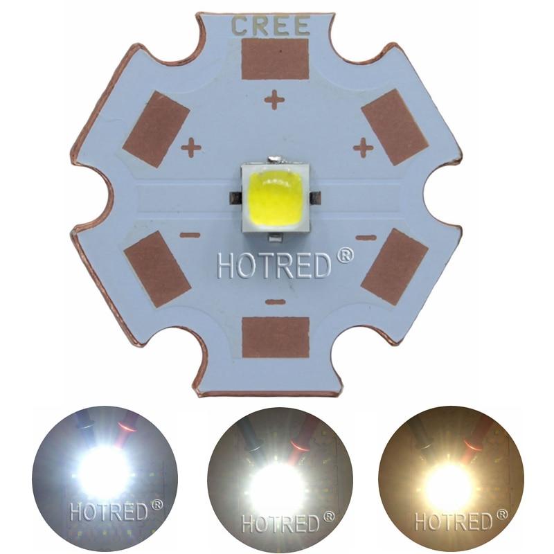 10W Cree XPL XP-L Led Emitter Light White 6500K Warm White 3000-3200K 2.95-3.25V With 8mm 12mm 14mm 16mm 20mm PCB For DIY