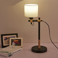A1 Simple modern creative office desk lamp decorative lamp bedroom bedside lamp new Nordic Korean wood DESK lights MZ18